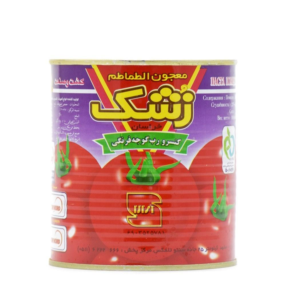 کنسرو رب گوجه فرنگی 800 گرمی زشک |