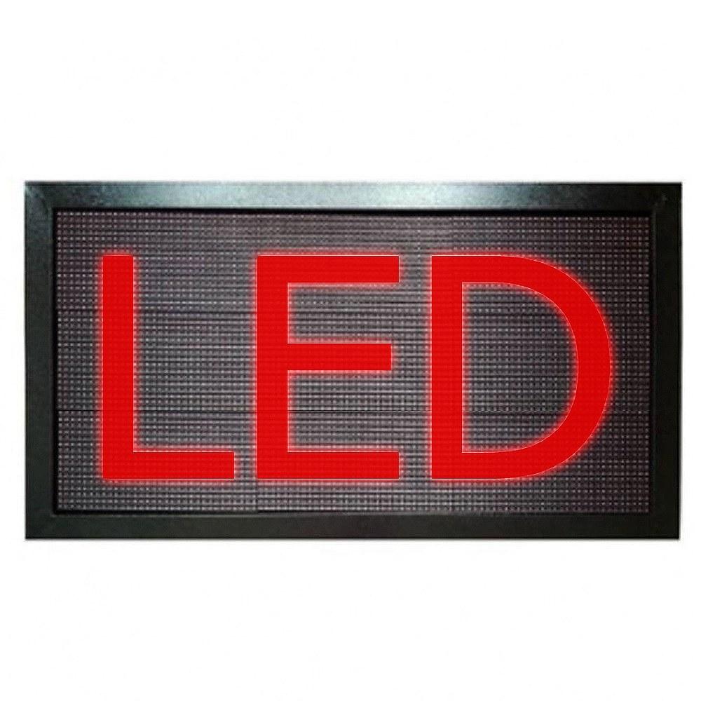 تصویر تابلو روان LED قرمز ابعاد 58x138cm با قابلیت پخش فیلم و عکس تکرنگ تراکم P10000 CSA اصلی
