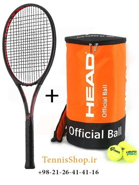 راکت تنیس هد سری Prestige مدل Tour تکنولوژی گرافن تاچ به همراه ساک توپ تنیس برند هد مدل referee Ball Bag  