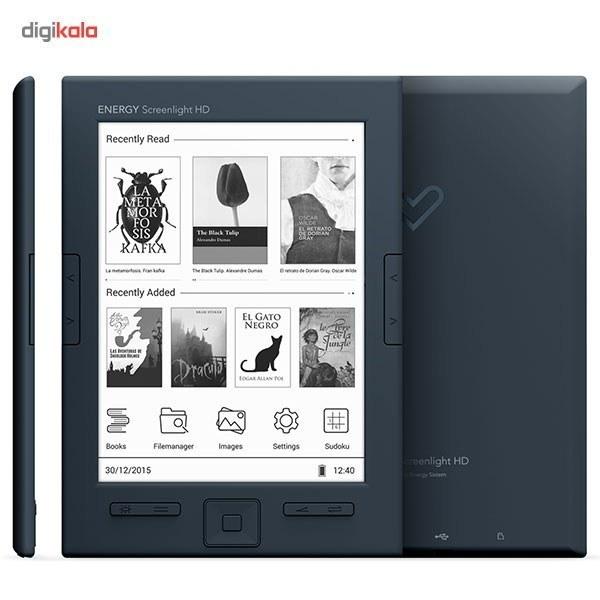 تصویر کتابخوان انرژيسيستم مدل Energy Ereader Screenlight HD - ظرفيت 8 گيگابايت Energy Sistem Energy Ereader Screenlight HD E-reader - 8GB