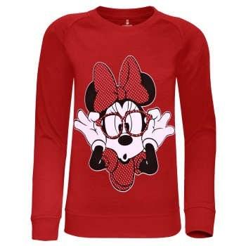 سویشرت دخترانه ساروک مدل Minnie Mouse رنگ قرمز |