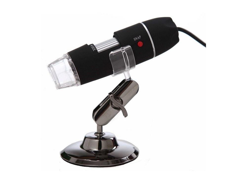تصویر میکروسکوپ دیجیتال 1600X USB Digital Microscope پایه چرخان