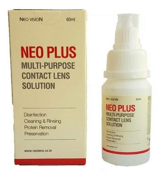 محلول شستشوی لنزهای تماسی نئوپلاس 60 میلی لیتر