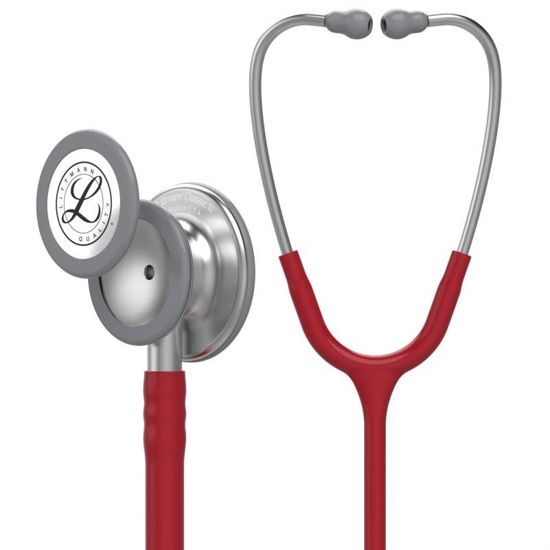 image گوشی پزشکی لیتمن کلاسیک 3 زرشکی 5627 Littmann Classic III 5627 Stethoscope