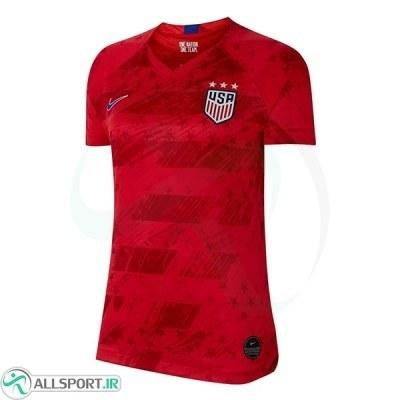 پیراهن زنانه دوم آمریکا USA 2019-20 Women Away Soccer Jersey