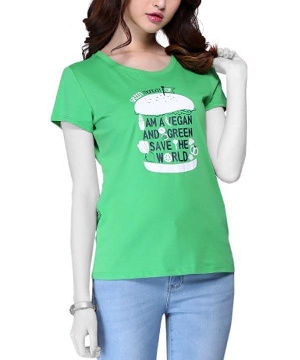 تی شرت طرح نجات زمین زنانه جین وست