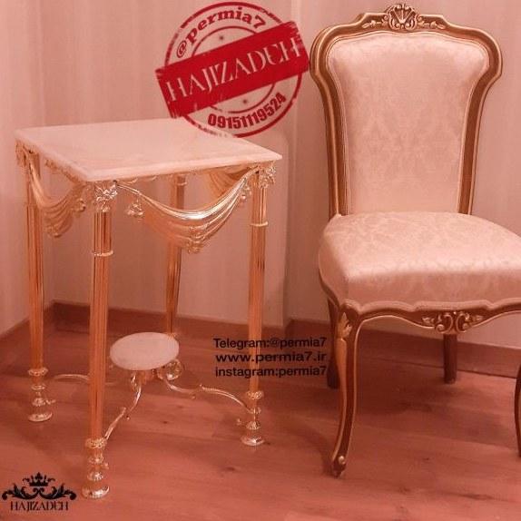 main images اپادانا میز تلفن برنجی پرده ای فورتیک طلایی   334GOLD
