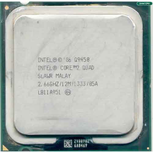 پردازنده تری اینتل مدل کیو ۹۴۵۰ با فرکانس ۲.۶۶ گیگاهرتز