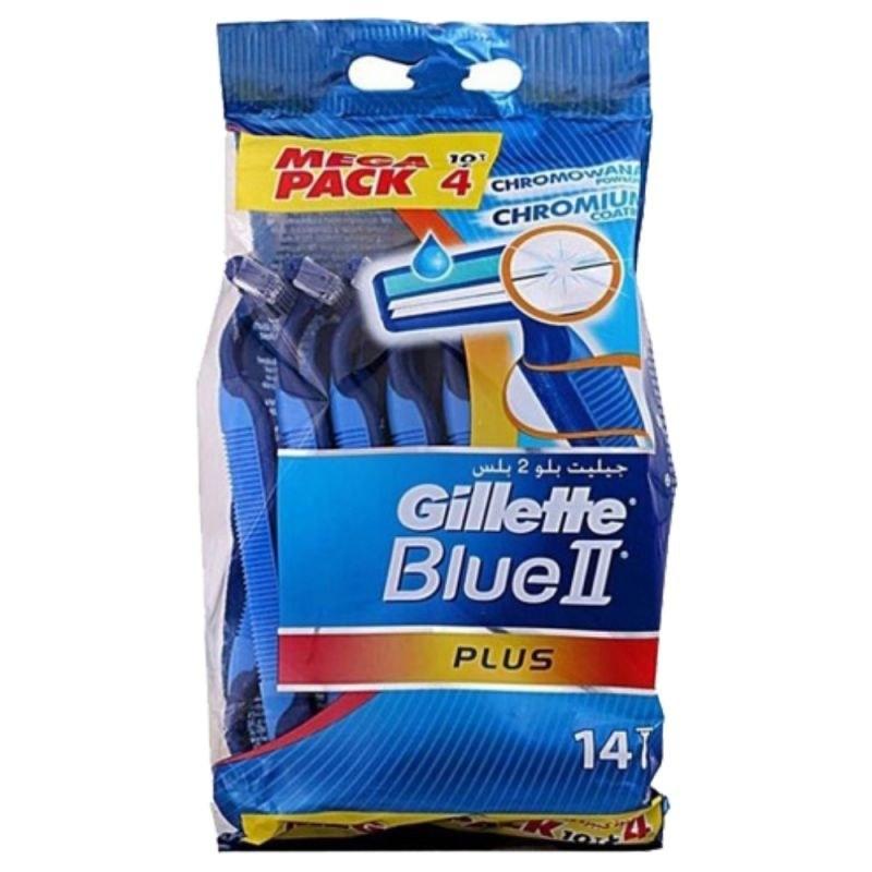 تیغ اصلاح ژیلت 14 عددی مدل blue 2 plus
