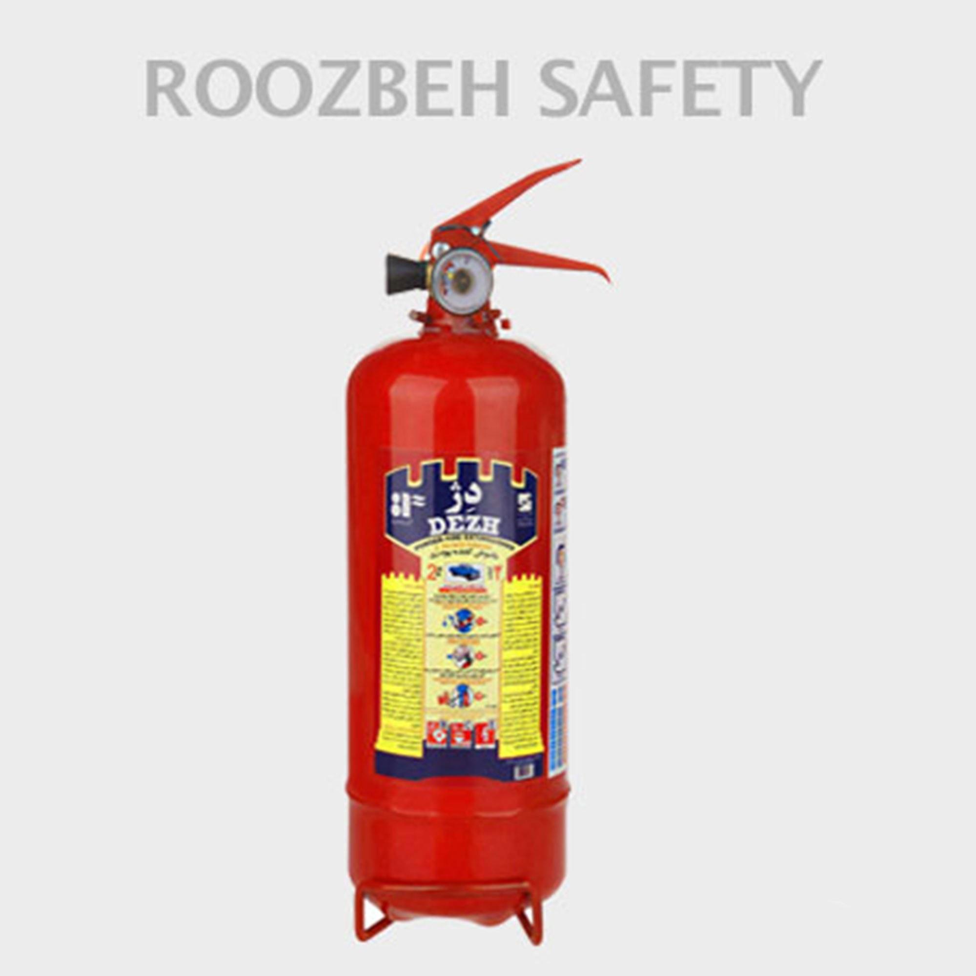 تصویر کپسول آتش نشانی پودری دژ ۲ کیلوگرم