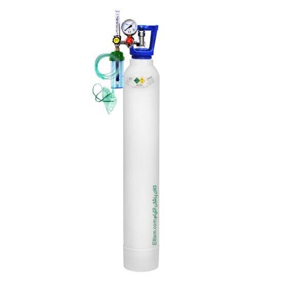 تصویر کپسول اکسیژن 10 لیتری با مانومتر طبی