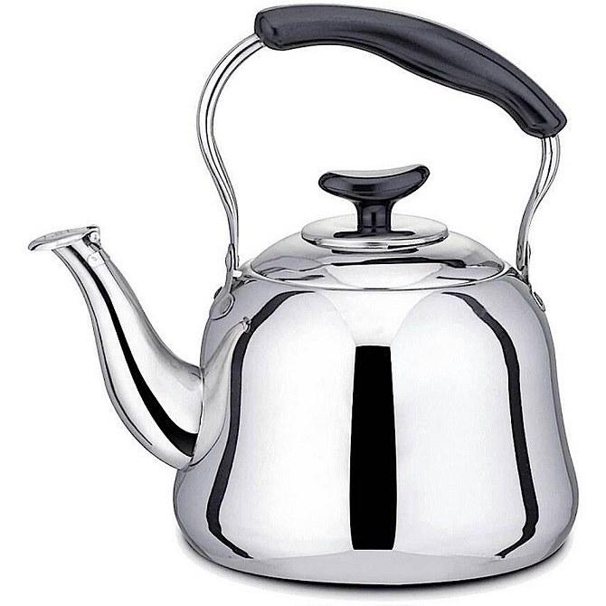 تصویر کتری استیل  whistling kettle مدل سوتی