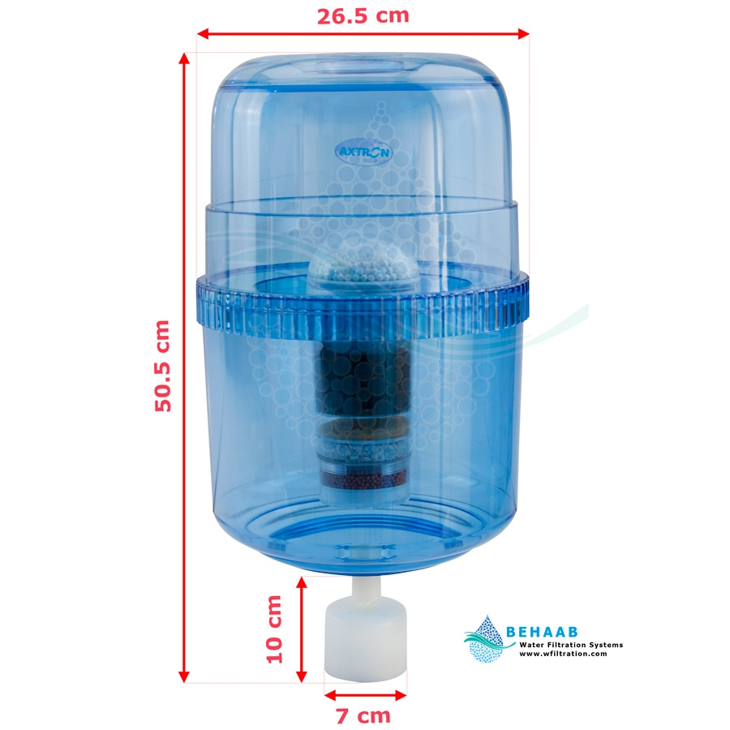 تصویر مخزن آبسردکن تصفیه دار اکسترون Axtron Water Filtration System for Top-Load Water Dispensers