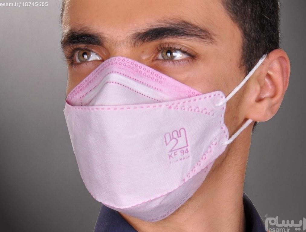 پک 10 عددی ماسک 3 لایه تنفسی 3 بعدی صورتی