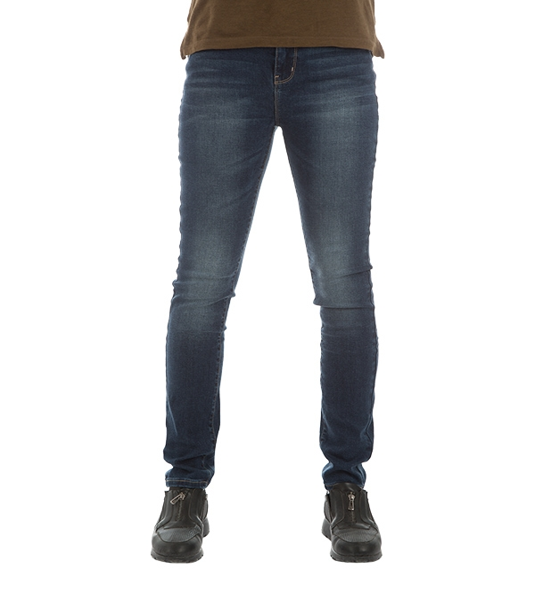 شلوار زنانه جین جذب آبی تیره جین وست Jeanswest
