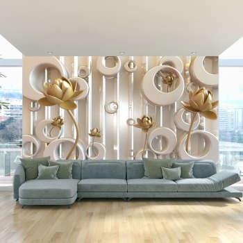 پوستر دیواری سه بعدی طرح گل کد 3DFL018 |