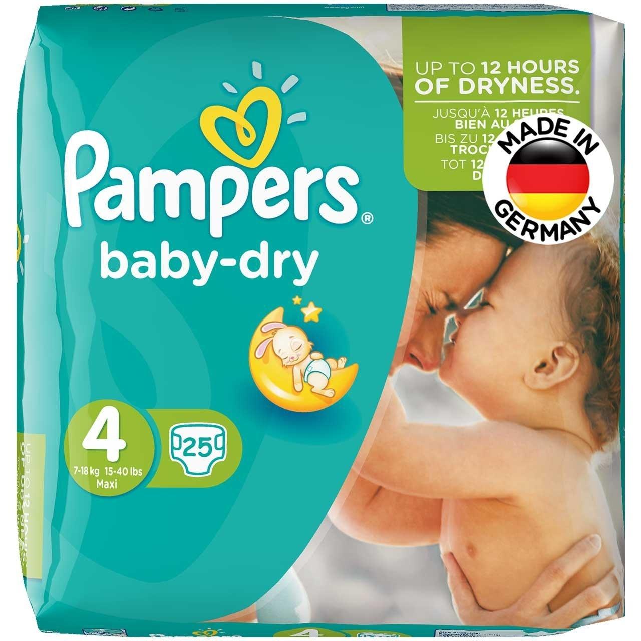 پوشک پمپرز مدل Baby Dry سايز 4 بسته 25 عددي |