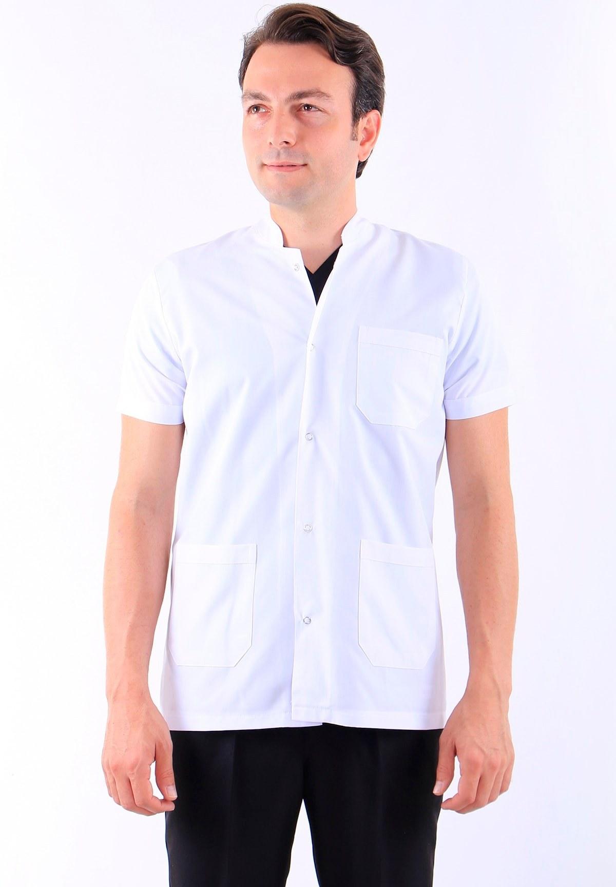 تصویر کت پرستار مردانه قد آستین کوتاه یقه دیپلمات برند AWEST کد 1616706361