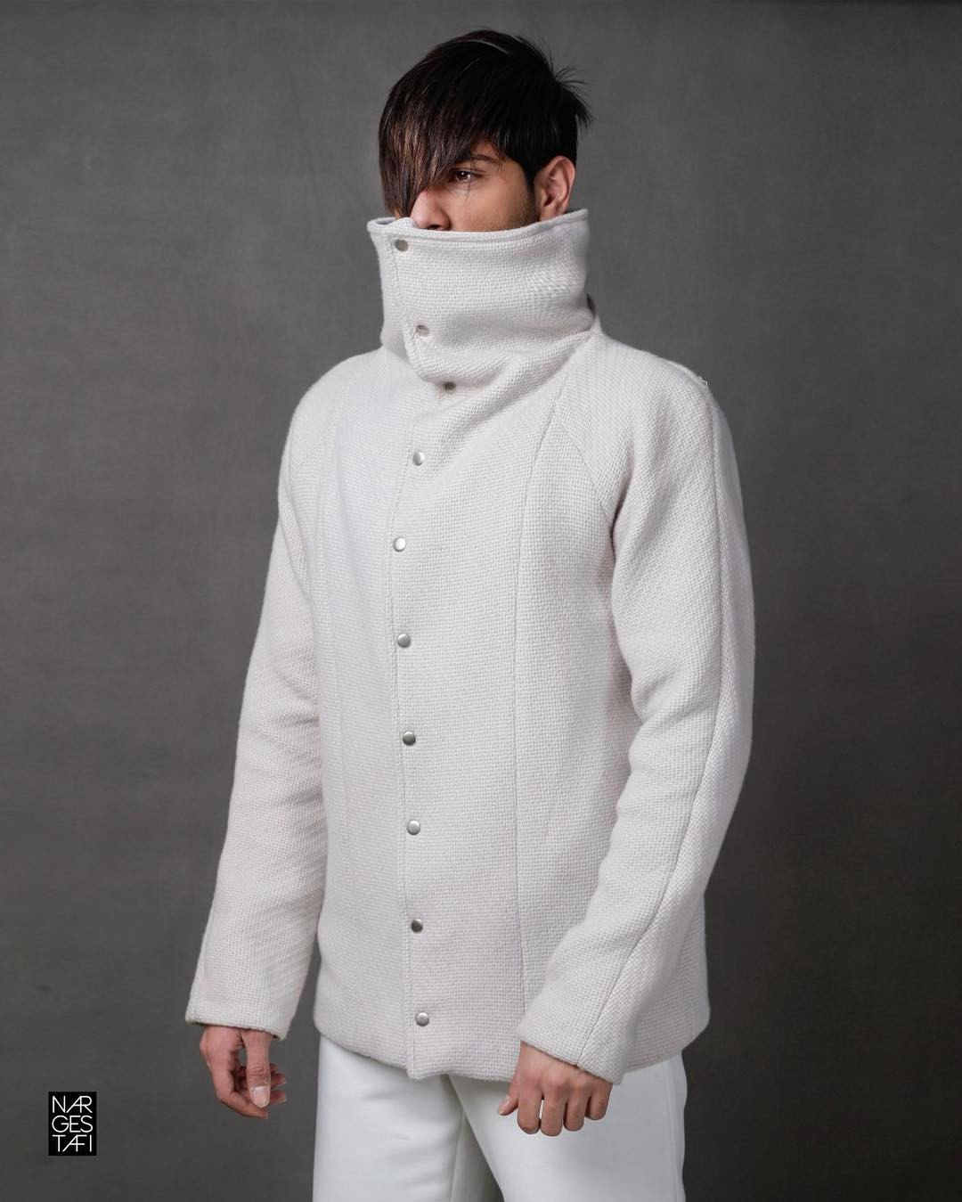 کت بافت سفید |