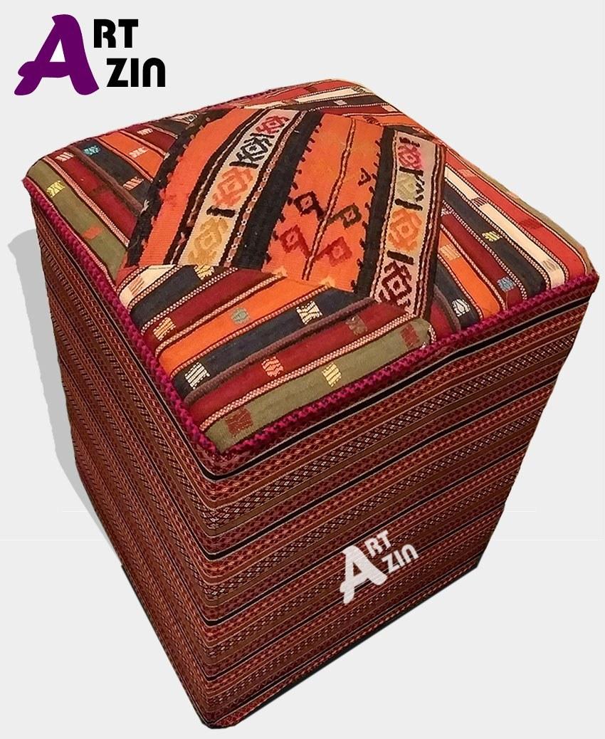 تصویر پاف سنتی گلیمی صندلی راحتی مبلمان کد: 10-408