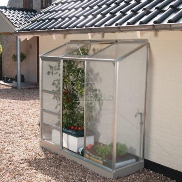 تصویر گلخانه خانگی یکطرفه مدل S12 ارتفاع 2.15 متر(طول 1.24)