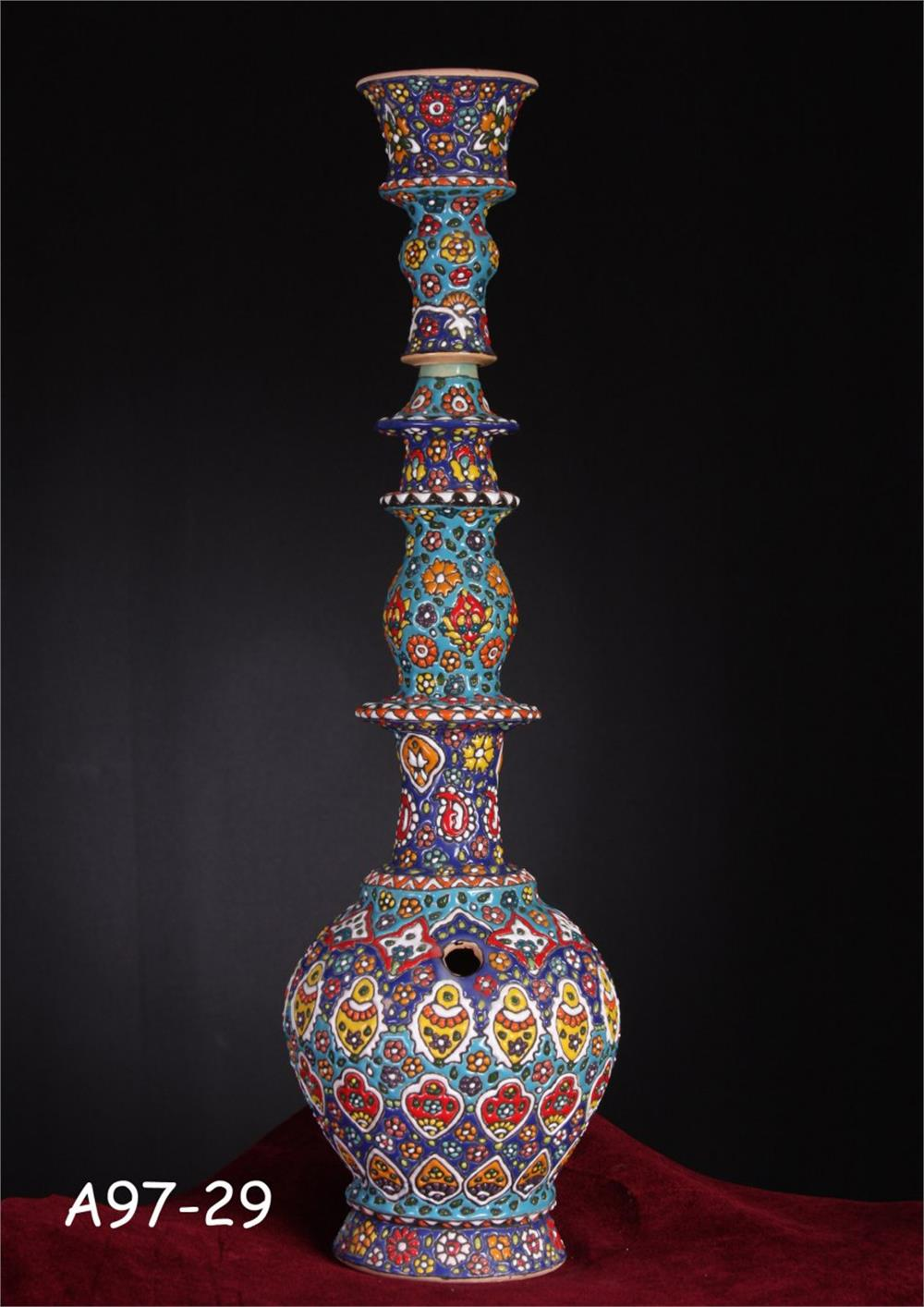 تصویر قلیان کد 702-هنر زیبای سفال همدان با شهرت جهانی Hookah Code 702-Beautiful art of Hamedan pottery with world fame