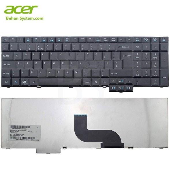 تصویر کیبورد لپ تاپ Acer مدل Travelmate 7750 به همراه لیبل کیبورد فارسی جدا گانه