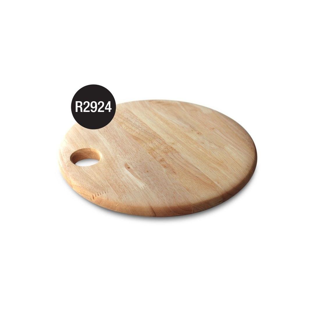 تصویر R2924 تخته گوشت چوبی دایره کوچک مدل آیکون