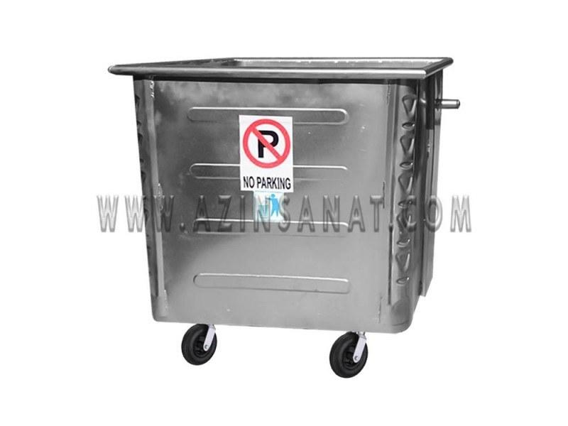 تصویر سطل زباله صنعتی 1100 لیتری مکعب پرسی (ورق 1.5)