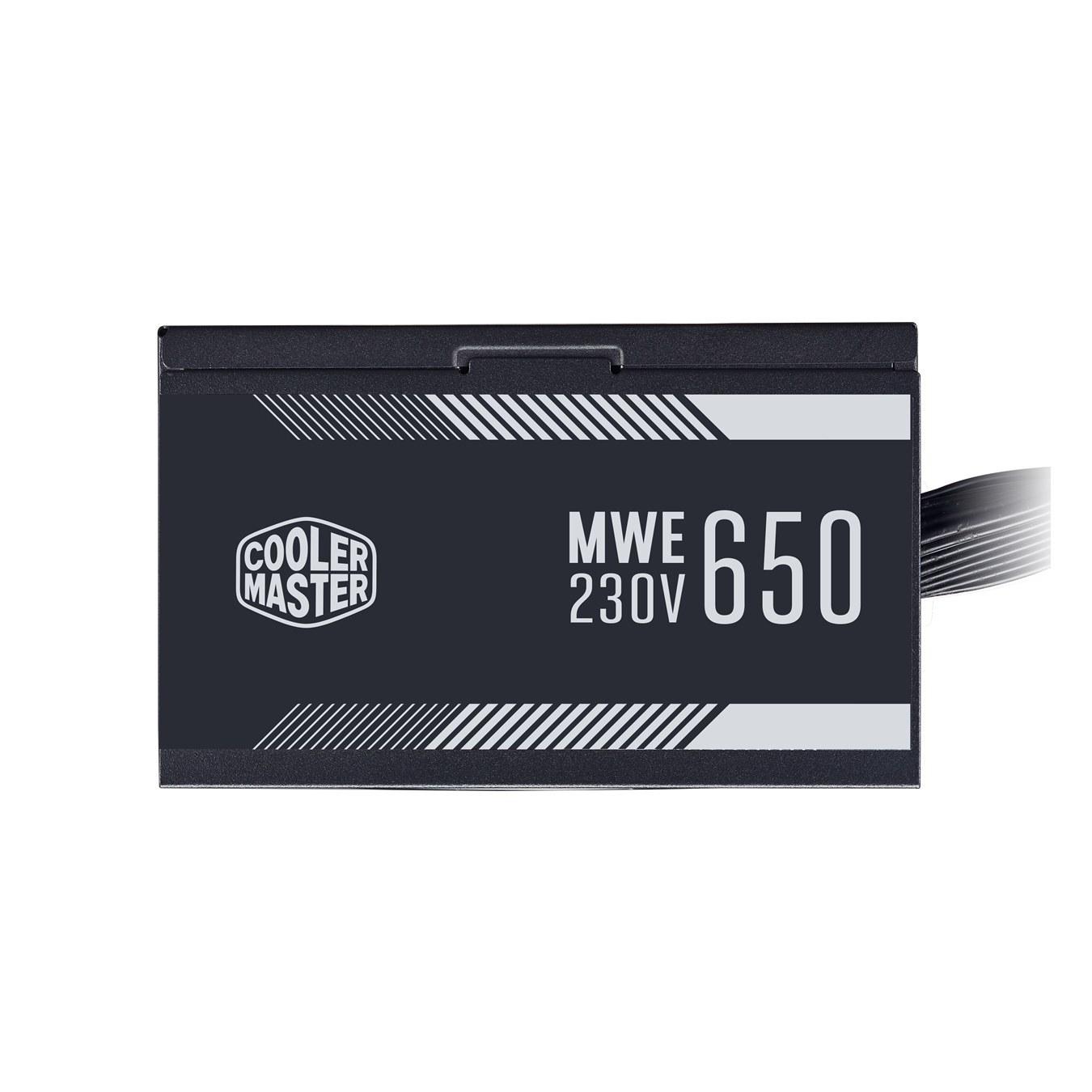 تصویر پاور 650 وات کولرمستر مدل WHITE MWE 650W POWER COOLERMASTER WHITE MWE 650W
