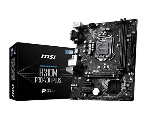 MSI ProSeries Intel Cafe Lake H310 LGA 1151 DDR4 D-Sub DVI HDMI مادربرد کارت گرافیک میکرو ATX (H310M PRO-VDH Plus)
