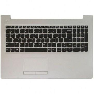 تصویر کیبورد لپ تاپ لنوو IdeaPad 310-15 مشکی - با قاب نقره ای - به همراه تاچ پد