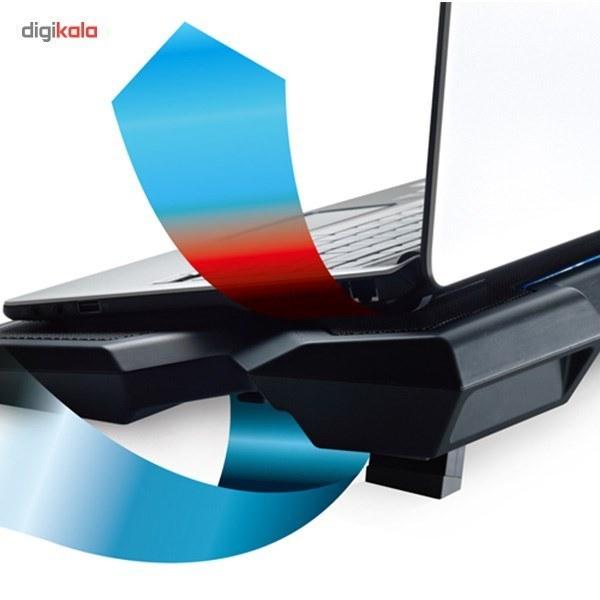 img کول پد کولرمستر مدل ایکس 3 پایه و خنک کننده لپ تاپ کولر مستر Notepal X3 CoolPad