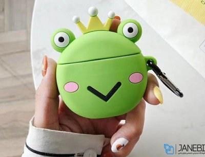 کاور محافظ سیلیکونی ایرپاد طرح قورباغه Frog Silicone Case Apple Airpods |