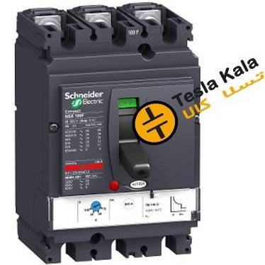تصویر کلید اتوماتیک، اشنایدر 125 آمپر، قابل تنظیم حرارتی- ثابت مغناطیسی سری NSX160F125