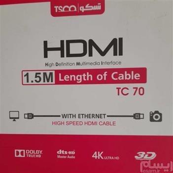 تصویر کابل HDMI تسکو مدل TC 70 به طول 1.5 متر TSCO TC 70 HDMI Cable 1.5m