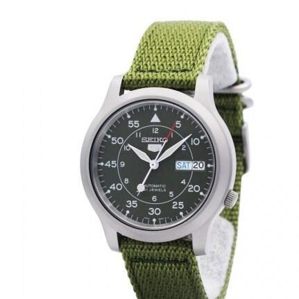 تصویر SNK805K2 مردانه سبز گاه به گاه Seiko ساعت SNK805K2 Mens Green Casual Seiko Watch