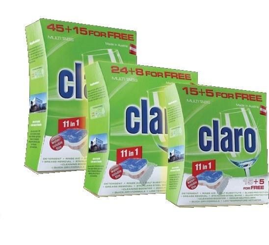 قرص ماشین ظرفشویی کلارو 11کاره | CLARO 11 in 1 Multi Dishwasher Tablets
