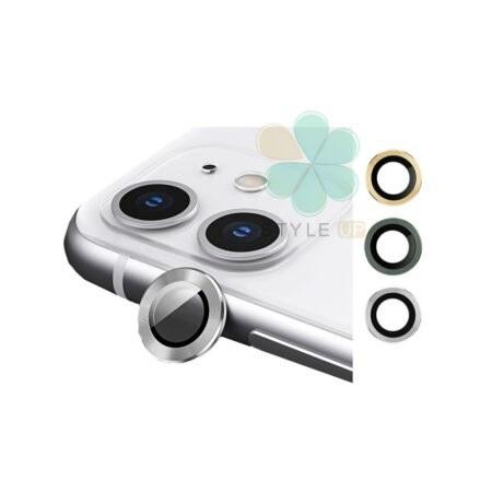 تصویر گلس محافظ لنز دوربین گوشی اپل آیفون Apple iPhone 12 مدل دور فلزی Camera Lens Metal Glass Screen Protectors for Apple iPhone 12