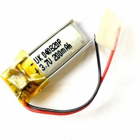 تصویر باتری هدفون بلوتوث لیتیومی تک سل 3.7V 200mAh دارای برد محافظ باطری کیفیت بالا 040820p 3.7v 200mah high quality battery