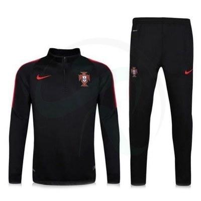 ست گرمکن شلوار پرتغال مشکی Nike Portugal 2016-17 Tracksuits black