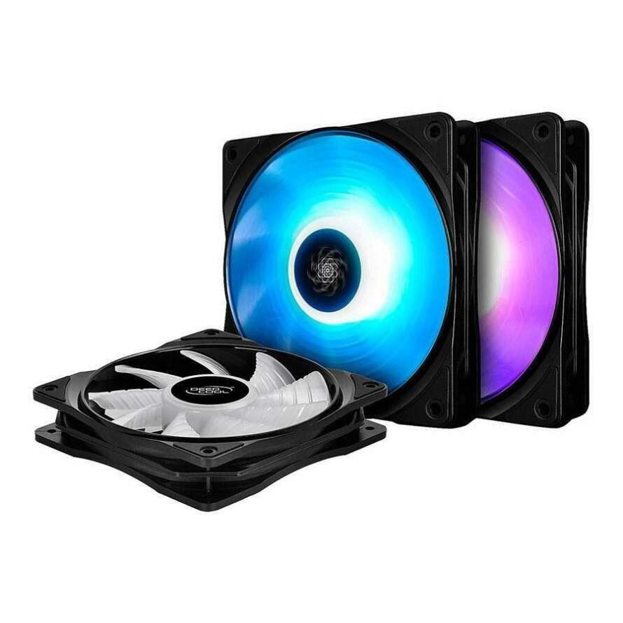 تصویر فن کیس دیپ کول RF-120M بسته 3 عددی DeepCool RF120M 3 in 1 RGB Case Fan