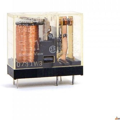 تصویر رله OMRON - مدل: G2R-1 - تک کنتاکت - 12V / 10A - پنج پایه