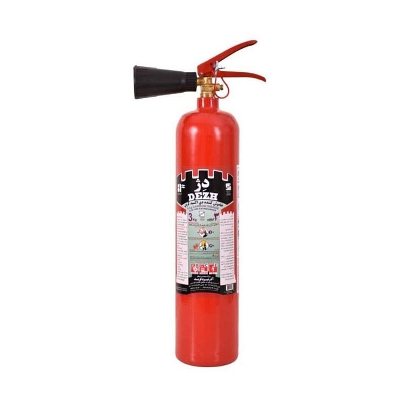 تصویر کپسول آتش نشانی Co2 سه کیلویی دژ