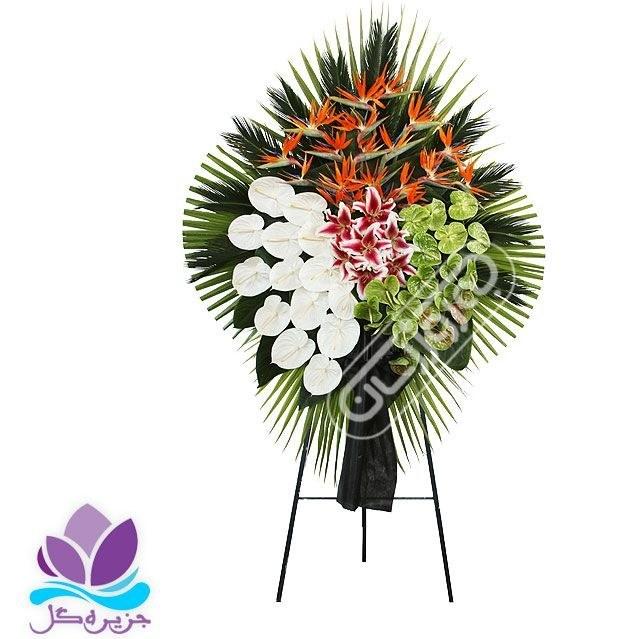 تصویر تاج گل ترحیم 1 طبقه ۲متری جزیره گل