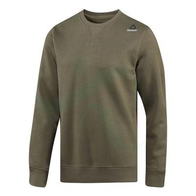 پلیور مردانه ریبوک المنت Reebok Element Fleece Crew Neck Sweatshirt Armygr BP9066
