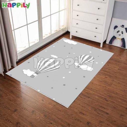 تصویر فرش اتاق کودک طرح بالون 52371