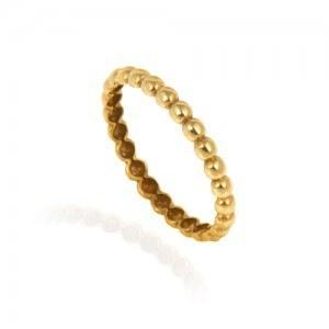 انگشتر طلا زنانه طرحدار کد cr404
