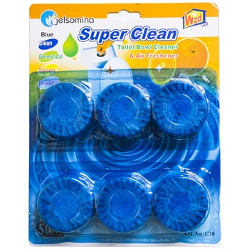 قرص جرم گیر توالت فرنگی مدل Super Clean بسته 6 عددی |