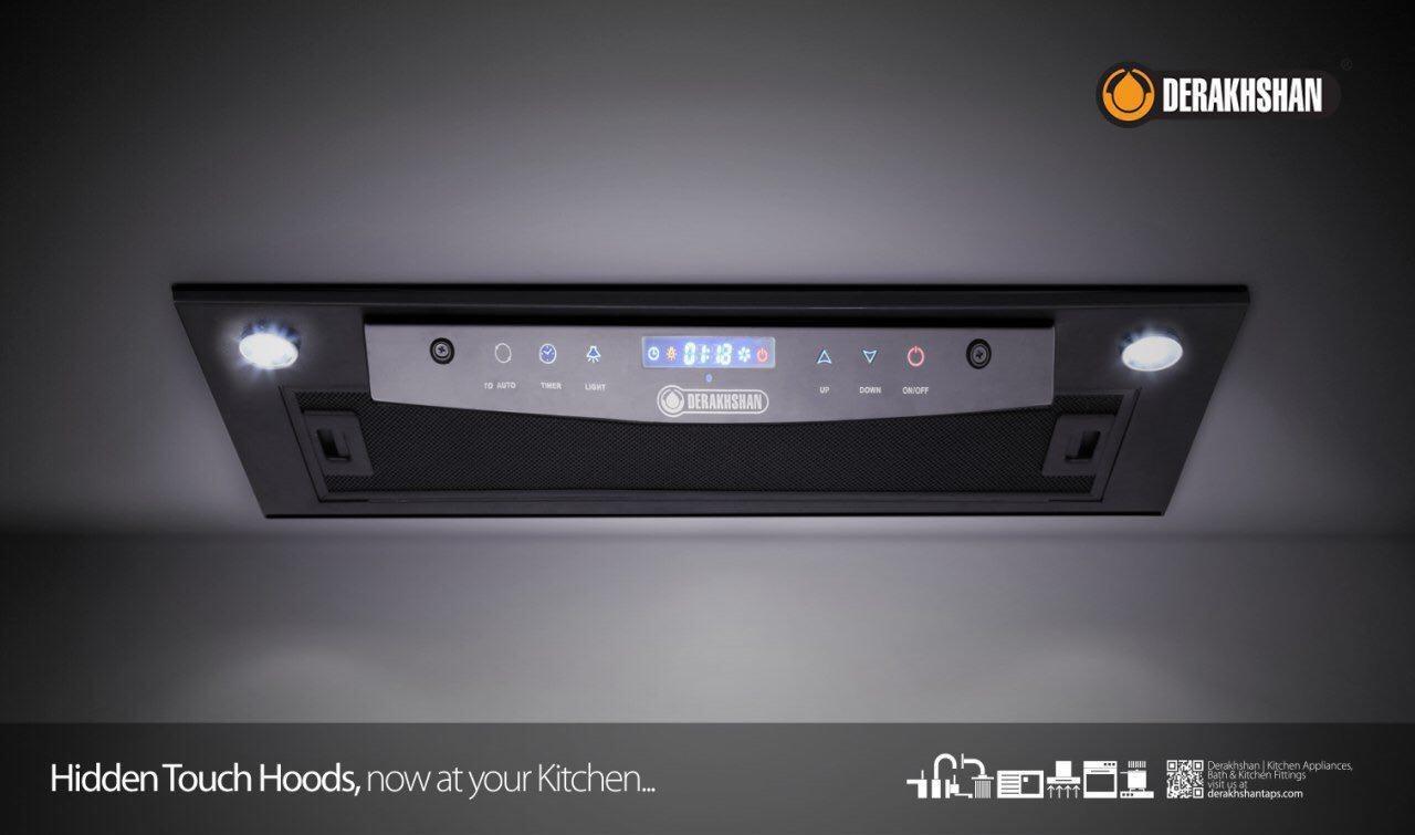 هود آشپزخانه درخشان مدل هیدن تاچ - Touch Hidden
